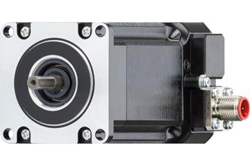 drylin® E special stepper motor with connector and splash guard, NEMA 23