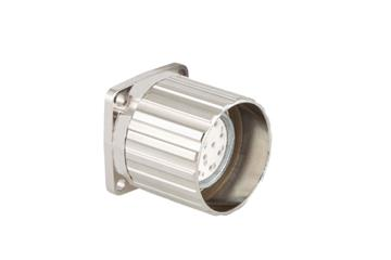Standard connector, series A, M23 standard feed-through with coupling nut