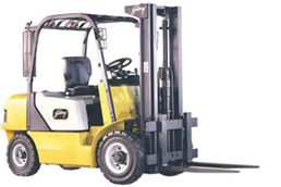 Forklift with iglidur® bearings at the lifting mechanism