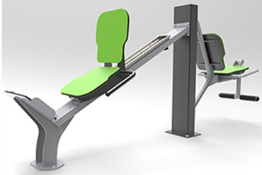 Leg press with drylin® linear guides